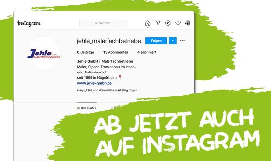 Ab jetzt ist die Jehle GmbH auch auf Instagram